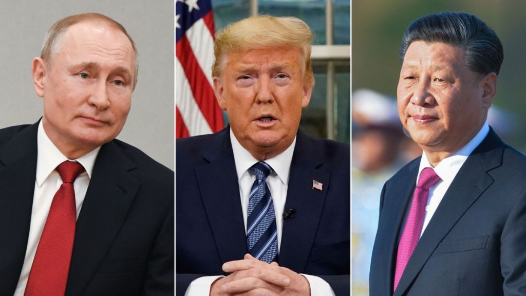vladimir putin, donald trump and xi jinping